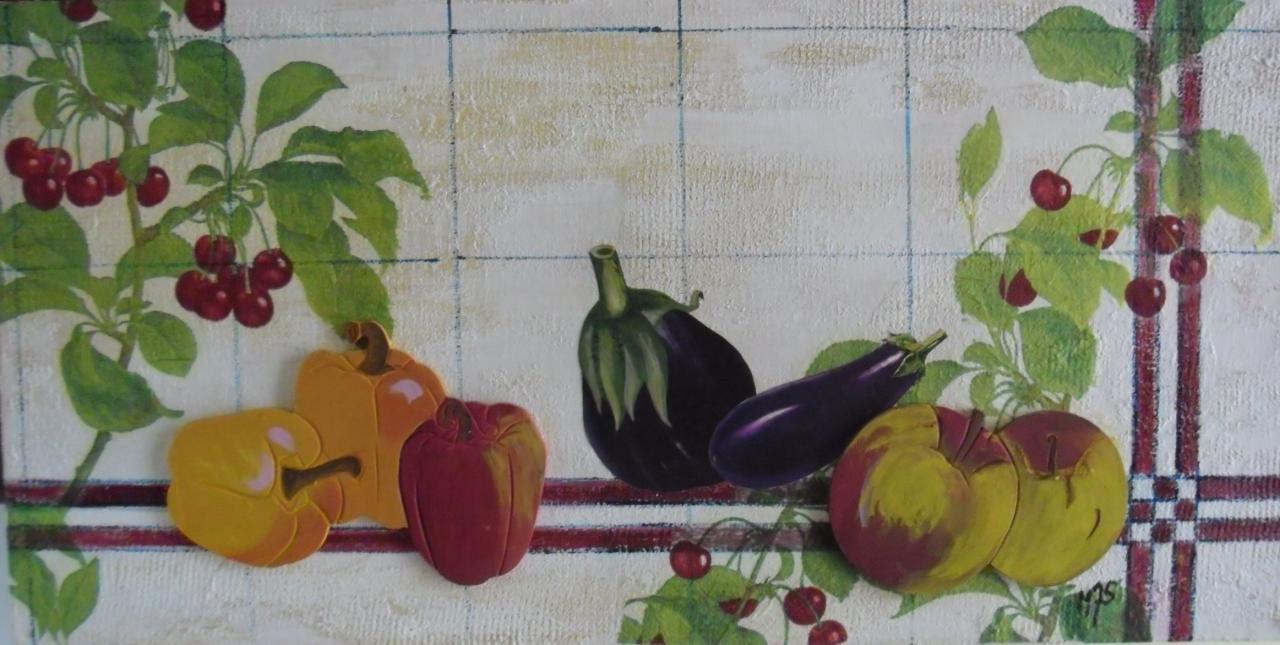 Technique mixte, acrylique et collage
