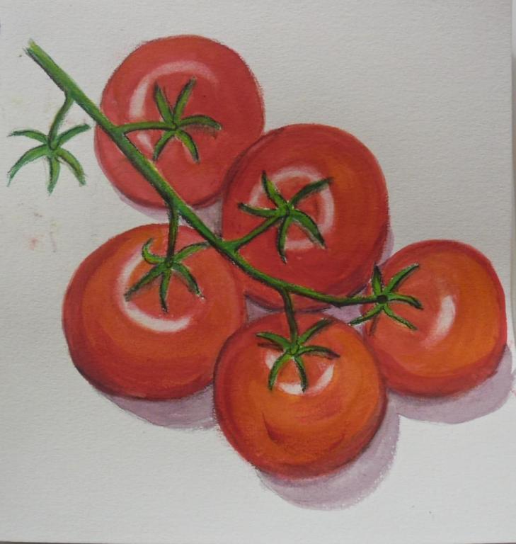 la grappe de tomates