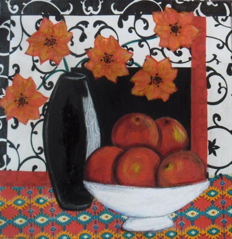 Pomme et fleurs
