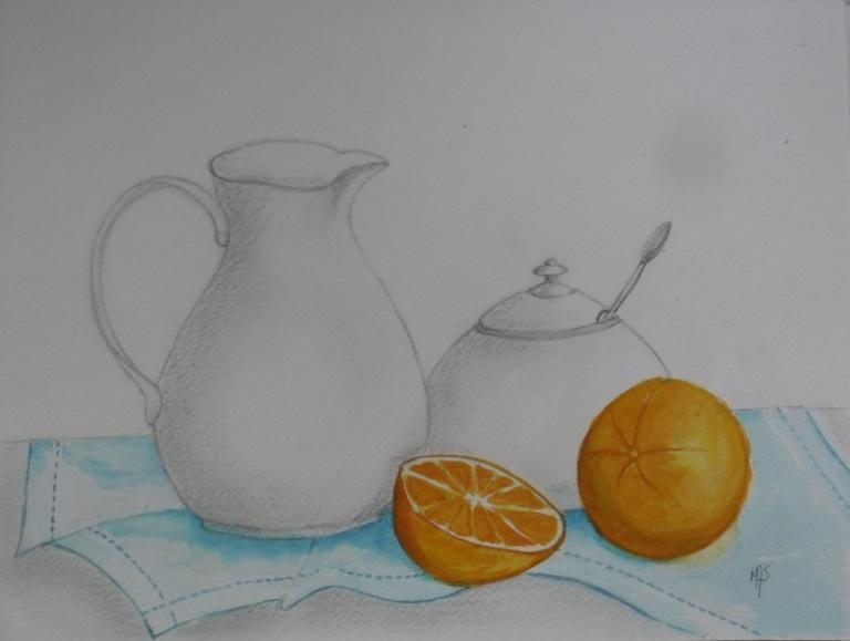 La mandarine et le sucrier
