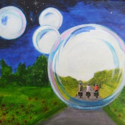 Promenade dans la bulle